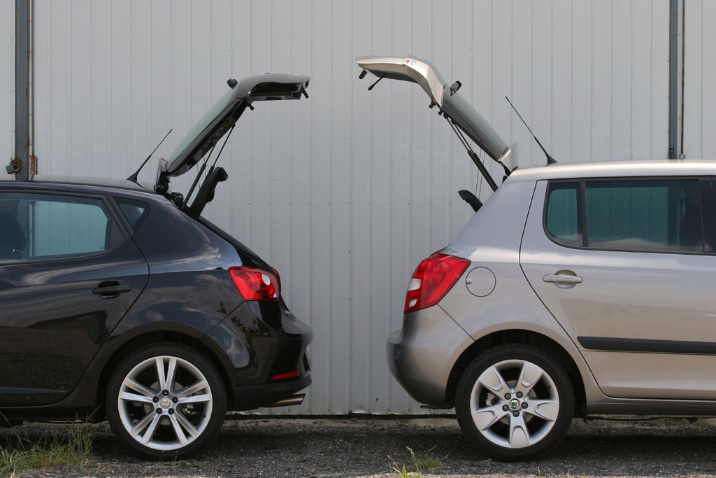 Automobily Seat Ibiza 1.9 TDI Sport vs. Škoda Fabia 1.9 TDI Sport
