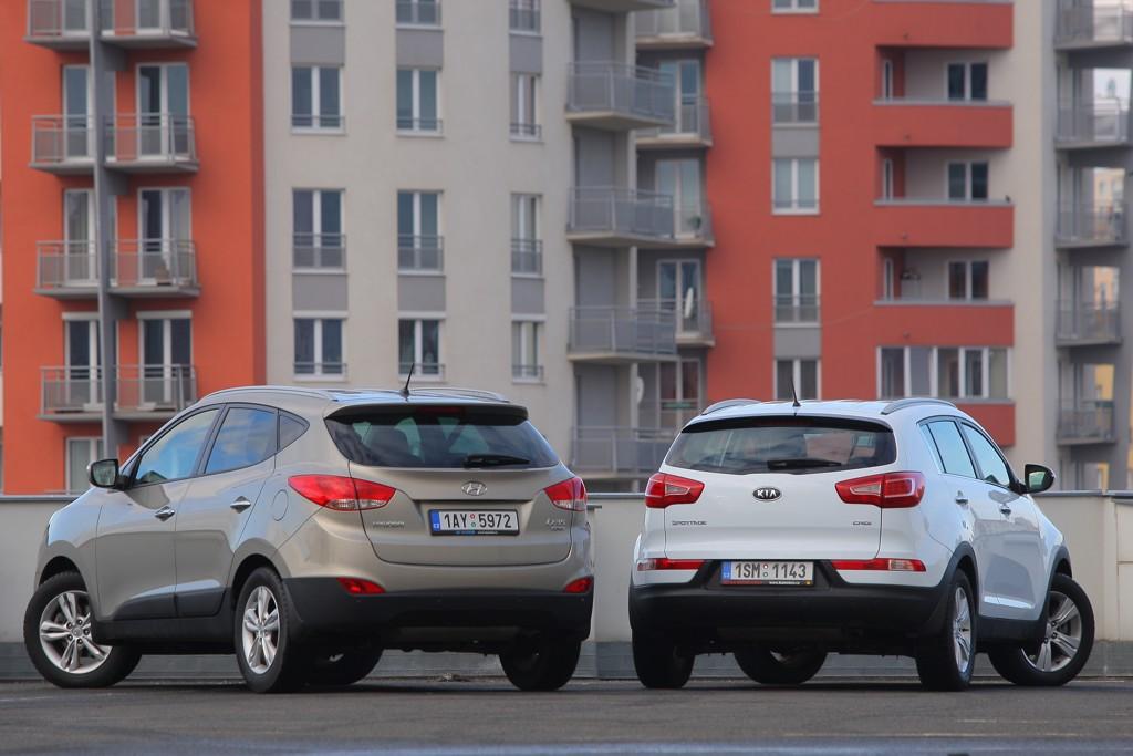 Automobily Kia Sportage vs. Hyundai ix35 1.7 CRDi 4x2