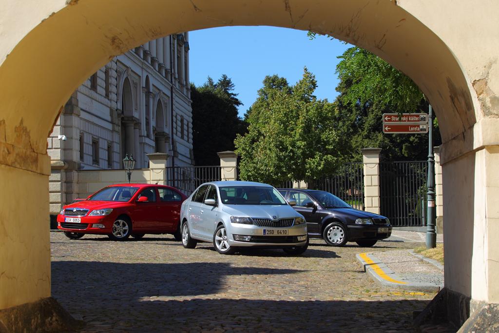 Automobily Škoda Rapid vs. Škoda Octavia I vs. Škoda Octavia II