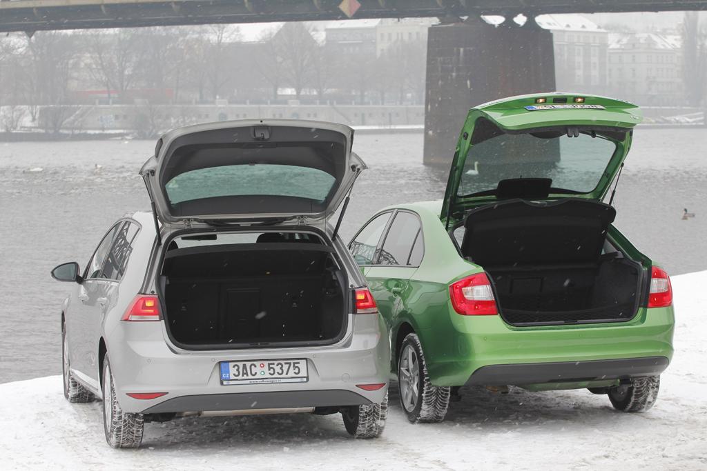 Automobily Volkswagen Golf 1.2 TSI Comfortline vs. Škoda Rapid 1.2 TSI Elegance