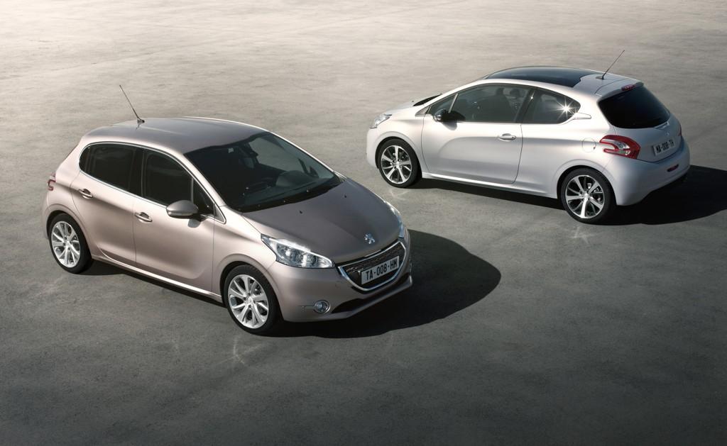 Automobily Peugeot 208 rozšíření 2012