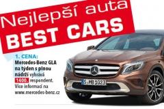 Hlasujte na internetu pro nejlepší vozy tohoto roku v anketě Best Cars 2014