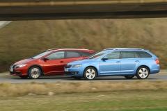 Honda Civic Tourer vs. Škoda Octavia Combi: Japonec až nakonec?