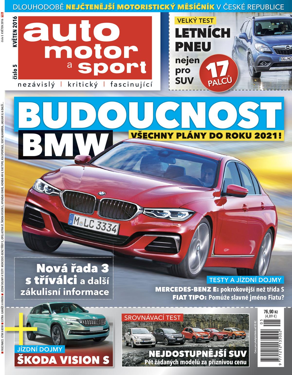 Obálka časopisu auto motor a sport