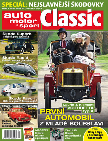 Obálka časopisu auto motor a sport Classic