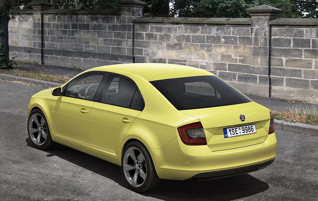 Automobily Škoda Rapid kresba