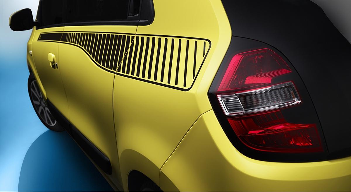 """Aby moje twingo bylo opravdu """"moje"""". Renault nabízí řadu detailů, díky jejichž kombinaci může být vaše autíčko jedinečné."""