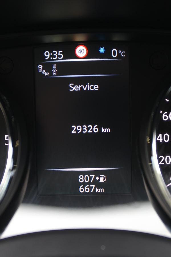 Servisní prohlídky jsou nastavené na30000km nebo jeden rok, interval je nicméně proměnlivý, akolik ještě zbývá kilometrů, se řidič dozví vmenu palubního počítače.